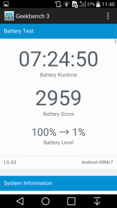 LG G3 battery Geekbench 3