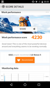 Nexus 5 PC Mark Work Performance